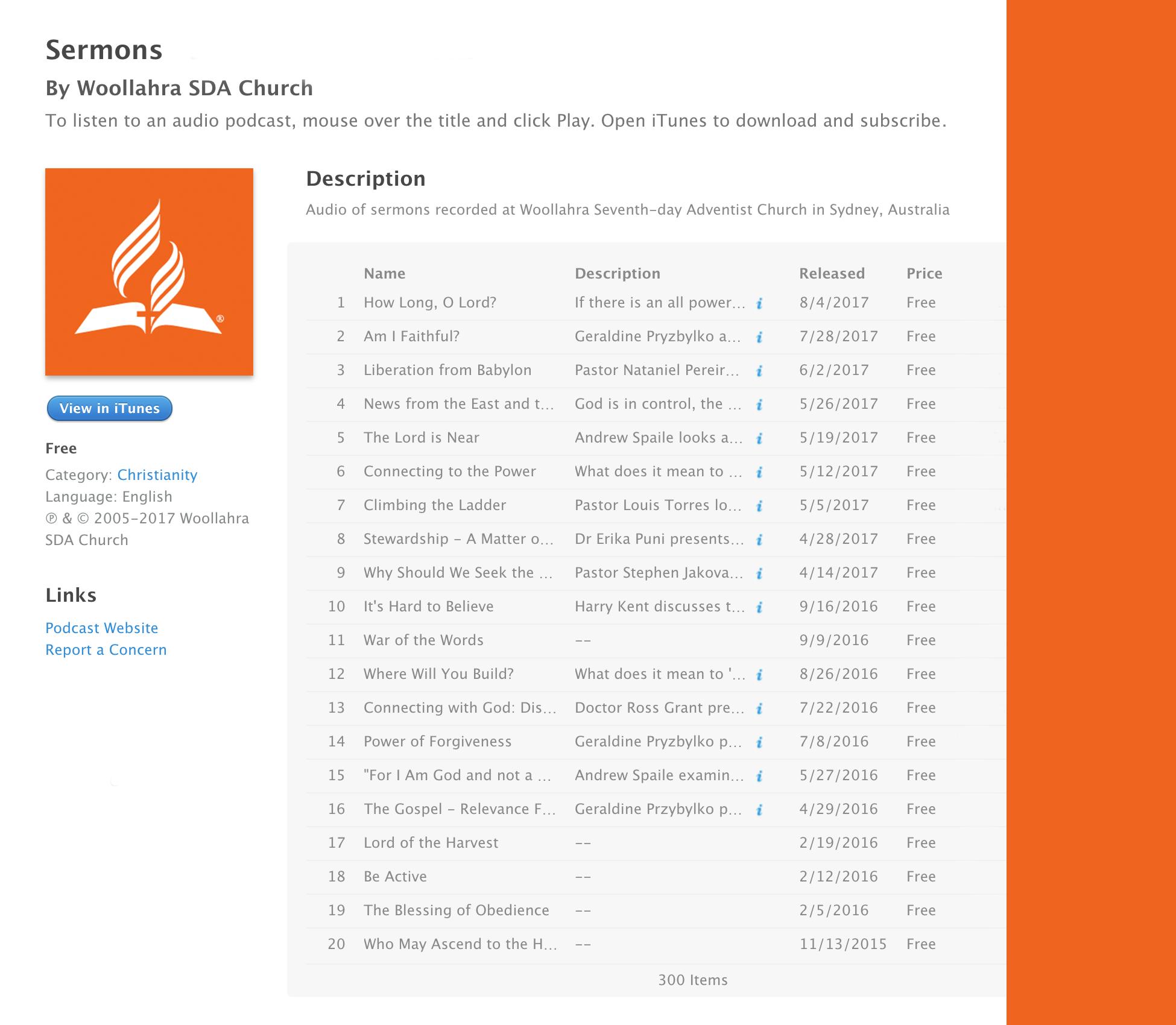 Sermons – Woollahra Seventh-day Adventist Church